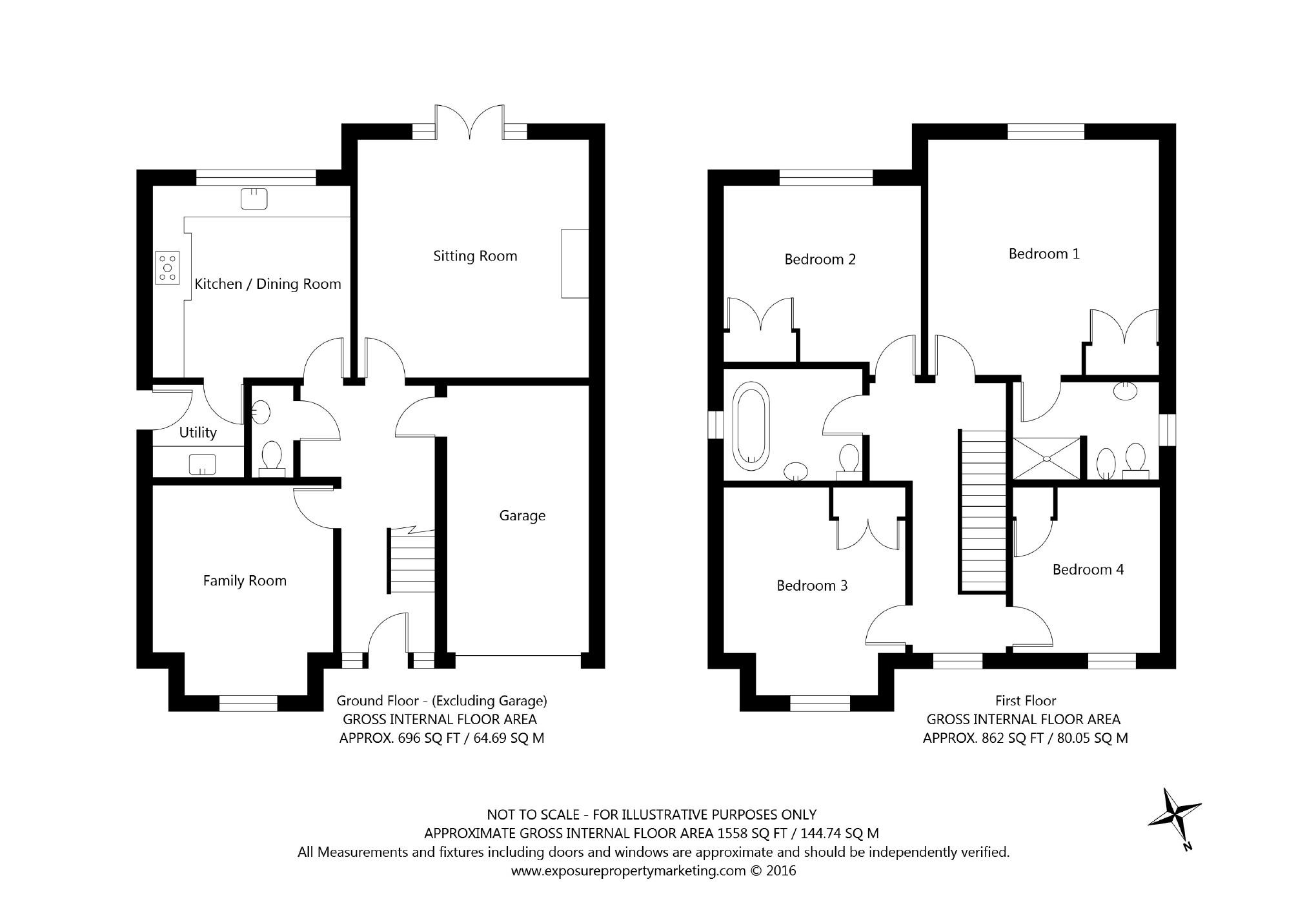 4 bedroom property for sale in keswick lane bardsey ls17 for 1125 maxwell lane floor plans
