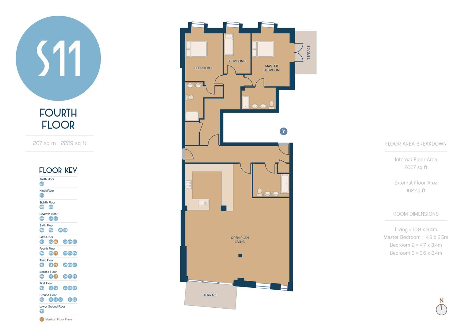 3 bedroom property for sale in apartment s11 the shore 22 23 the