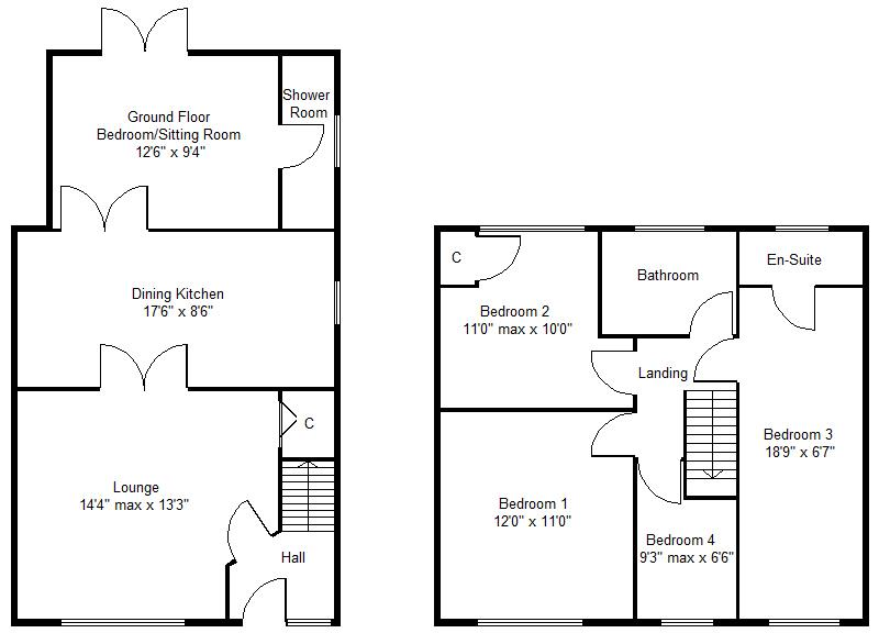 4 bedroom property for sale in Harewood Avenue Kirk Sandall – Harewood House Floor Plan
