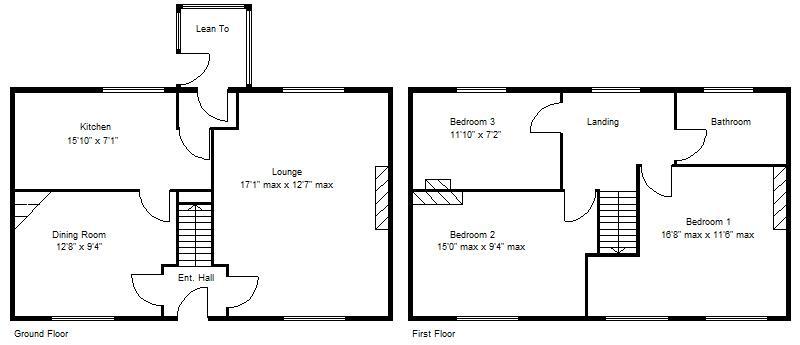 3 bedroom property for sale in Harewood Avenue Kirk Sandall – Harewood House Floor Plan