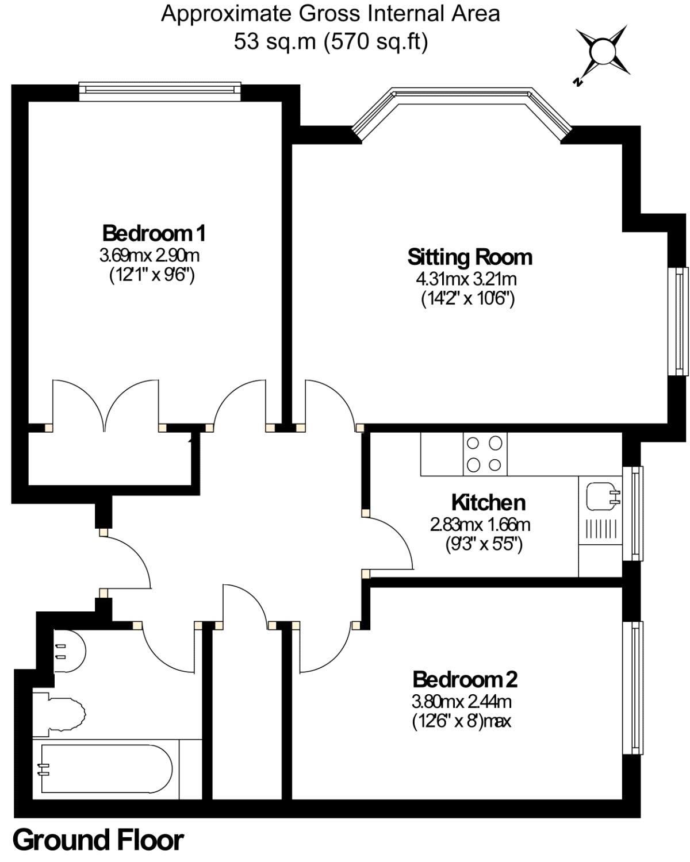 2 Bedroom Property For Sale In Aragon Court Knaphill Gu21 282500 Epc