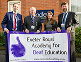 Our new charity partnership with Exeter Deaf Academy