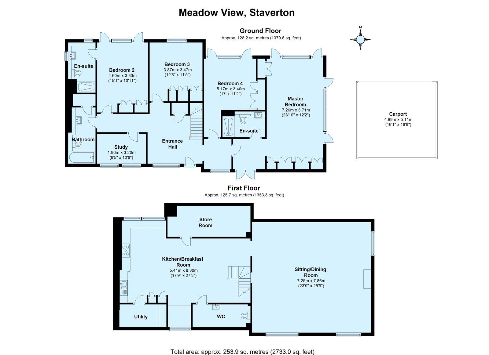 4 bedroom property for sale in Meadow View, Staverton, Totnes, TQ9 ...
