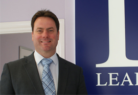 Marcus Foot, sales manager at Leaders in Waterlooville