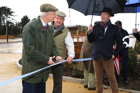 Sir Henry Bellingham opens Foundry Field car park