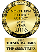 Northern Lettings Agency of the Year 2016 GOLD award