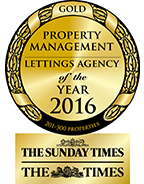Property Management Lettings Agency of the Year 2016 GOLD award