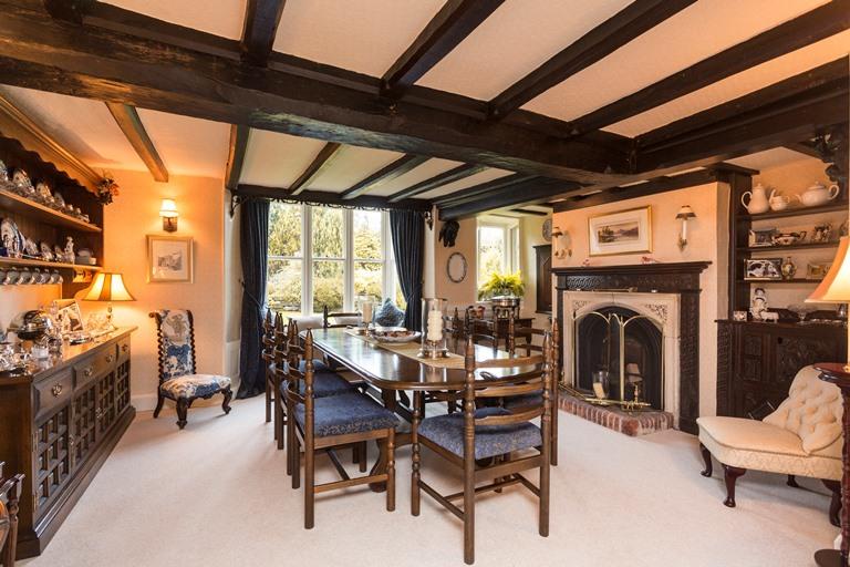 Adam bede house Ellastone dining room
