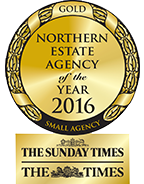 Best Small Northern Estate Agency of the Year 2016 GOLD award