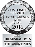 Customer Service Estate Agency of the Year SILVER award