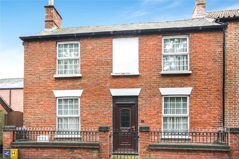 double-fronted, three-bedroom house in Sleaford