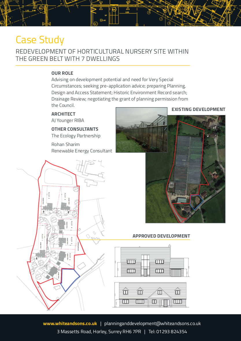Redevelopment of Horticultural Nursery Site