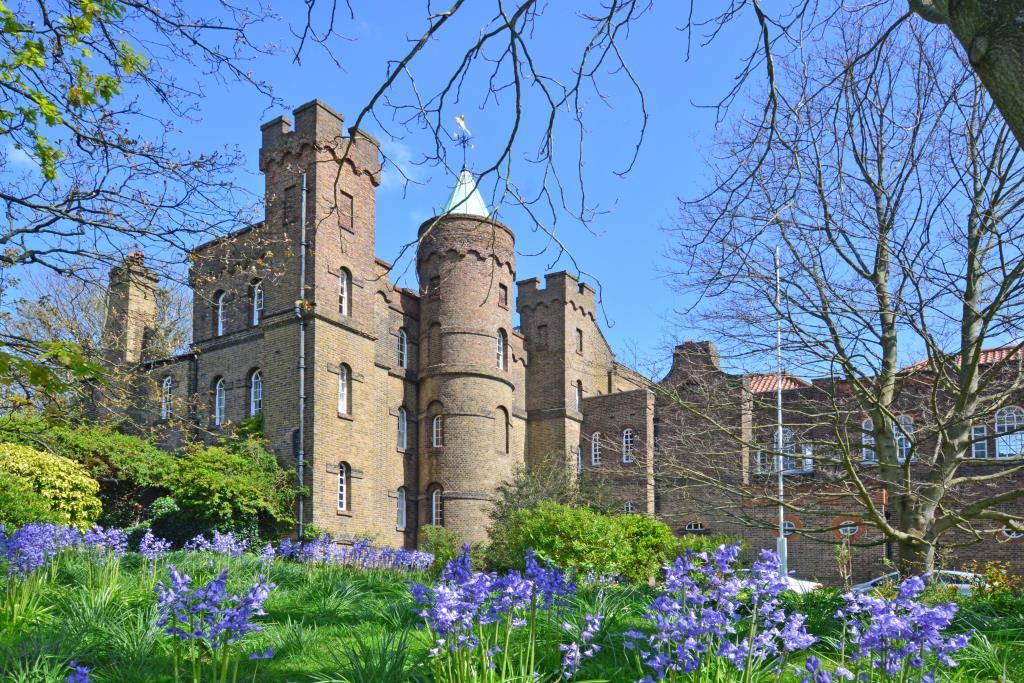 Grade II listed castle built in 1718