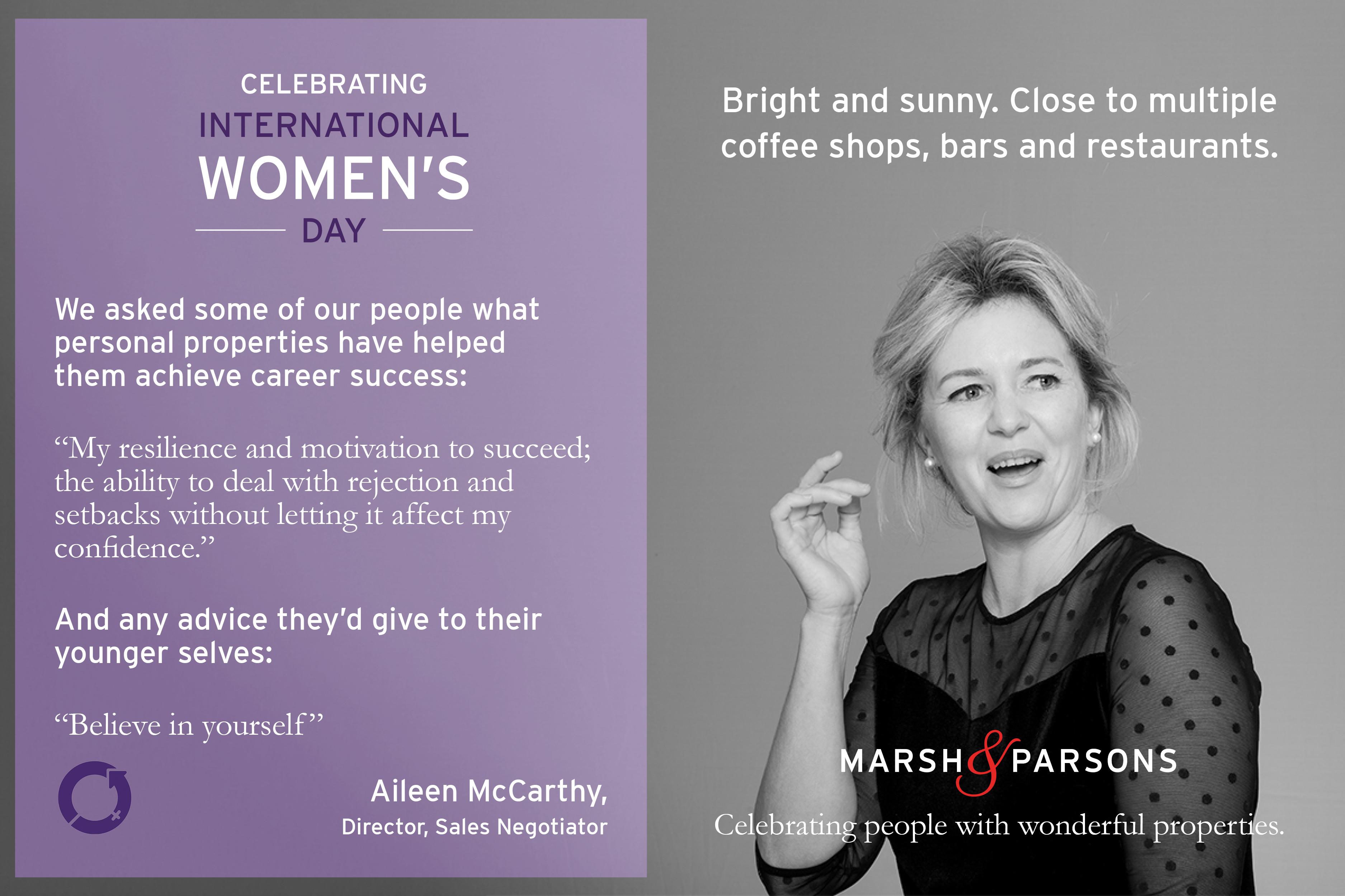 Aileen McCarthy, International Women's Day
