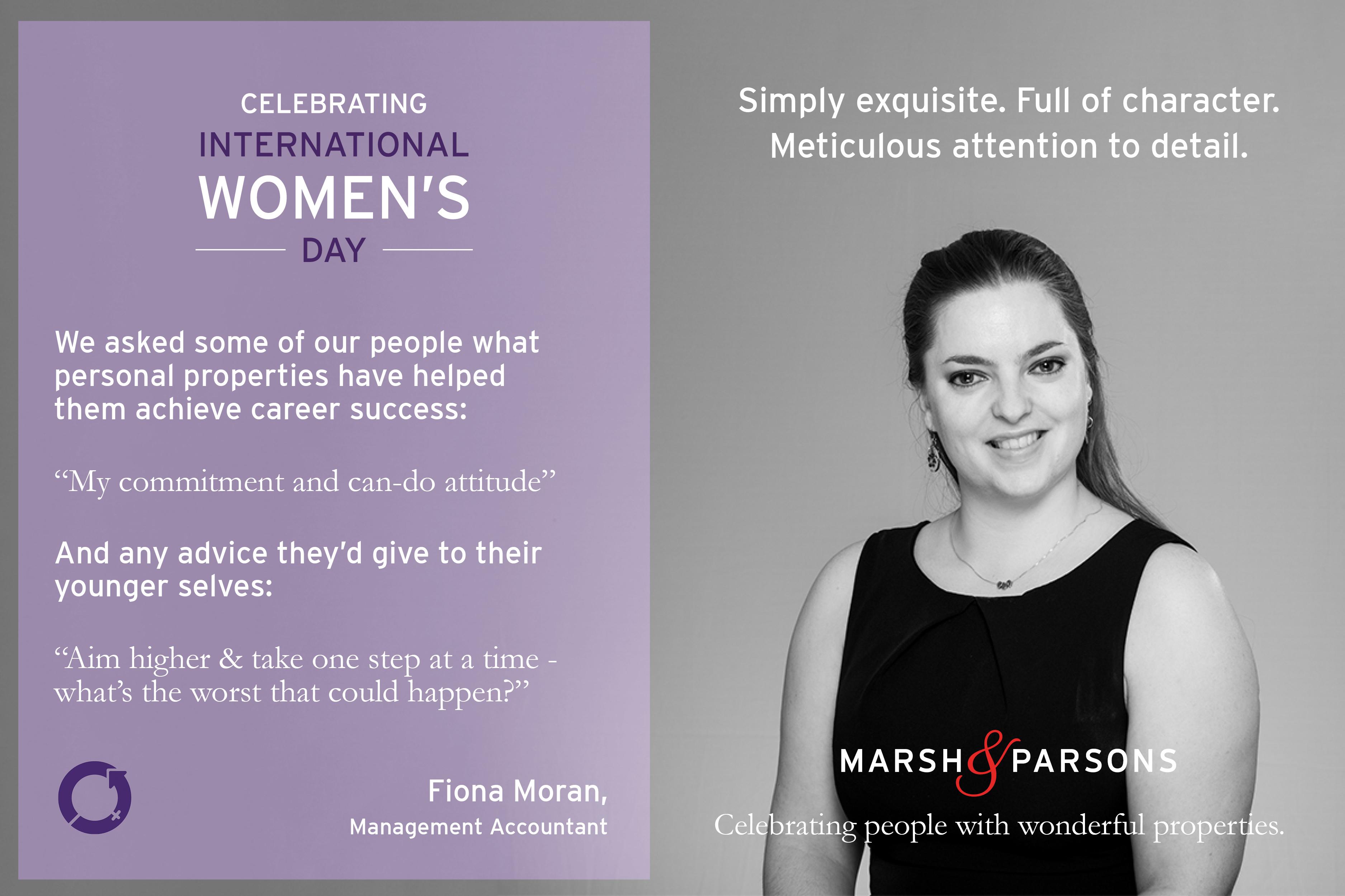 Fiona Moran, International Women's Day