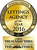 Overall Winner Lettings Agency of the Year GOLD award