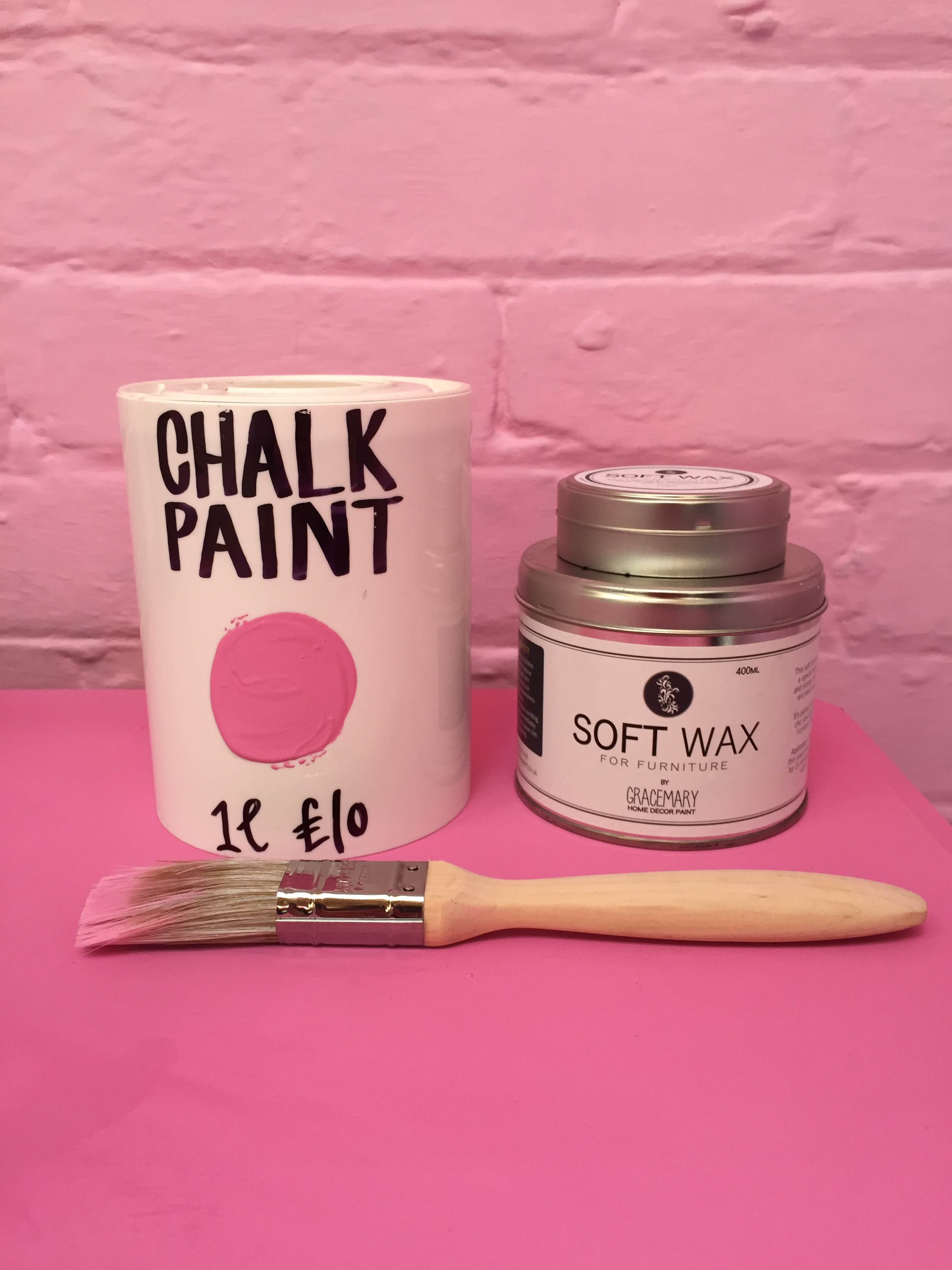 seagulls chalk paint, pink