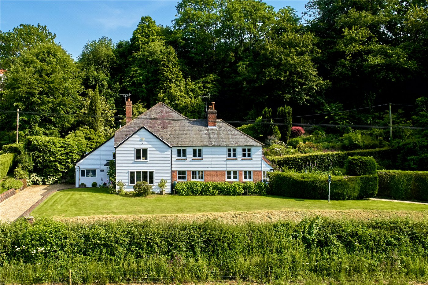 A five-bedroom house near Petersfield and within the South Downs national park.