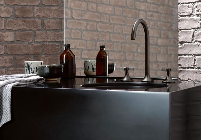 matt black bathroom sink