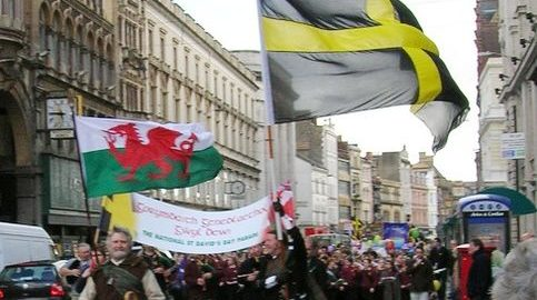 Saint David's Day parade in Cardiff