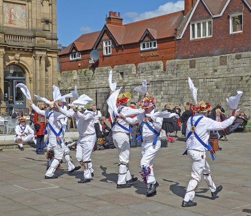 Morris dancing in York, England